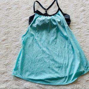 Zella Tops - Z by Zella size XS baby blue black workout tank